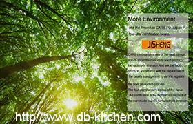 JISHENG China High Gloss Kitchen Cabinet Supplier