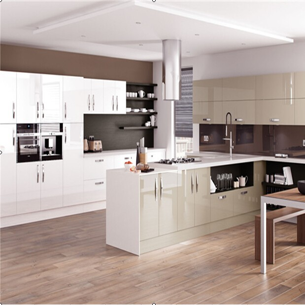 European style modern high gloss kitchen furniture. Loading zoom