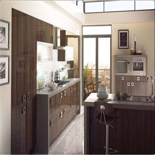 Uv High Gloss Modular Kitchen Cabinet Design