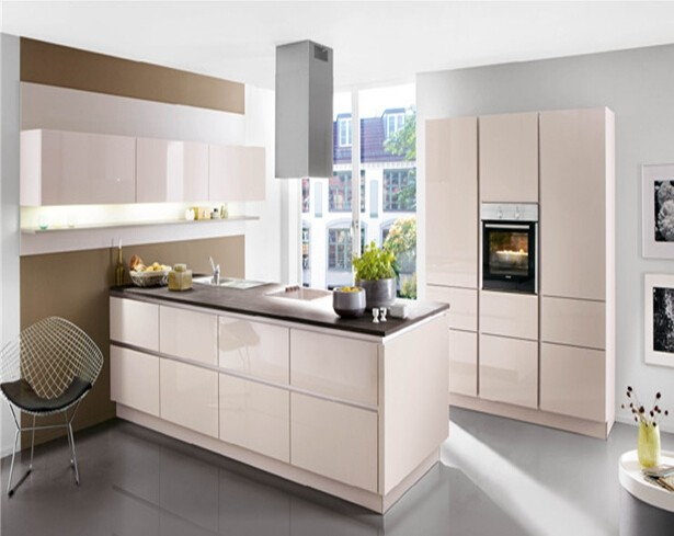Reasonable high gloss kitchen cabinet price