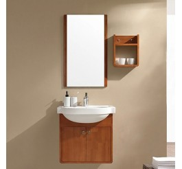 Wood grain plywood panel bathroom vanity cabinets without tops