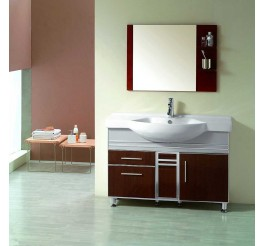 Aluminium edge plywood plate bathroom cabinets and vanities wood grain