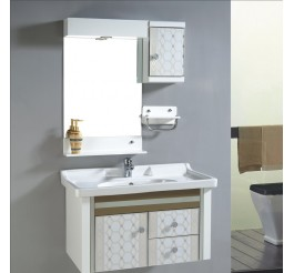 wholesale bathroom vanities wtih decorative pattern designed  panel