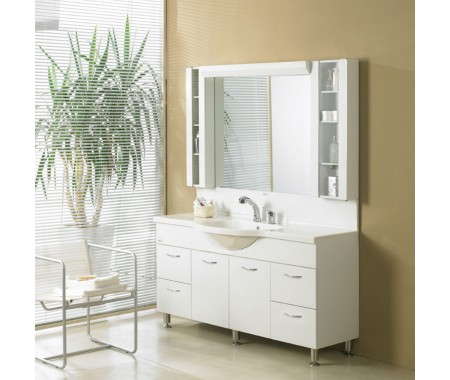 modern bathroom vanity cabinets acrylic white panel