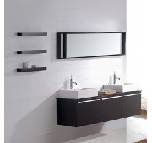 Modern double sink bathroom vanity black pattern