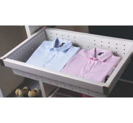 closet organization system soft closing basket