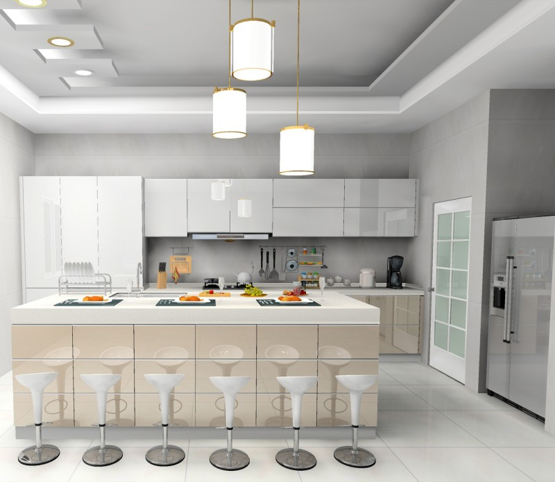 Jisheng White Gloss Kitchen Cabinet Designs Idea Daban Kitchen