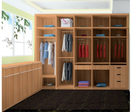 wood grain matt finish wardrobe designs for bedroom