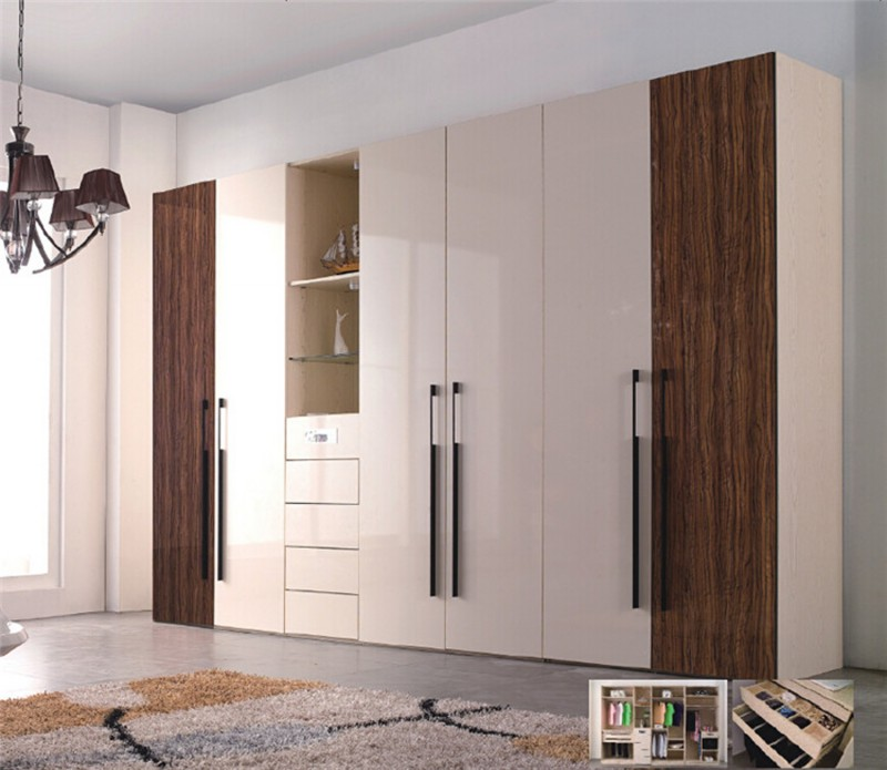 Jisheng High Gloss White Armoire Wardrobe For Bedroom Decoration