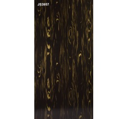 black gloss panels wood grain pattern