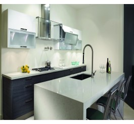 black and white small kitchen cabinet functional design