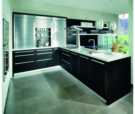 kitchen cabinet design with roller shutter