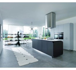 custom kitchen cabinets white and grey combination