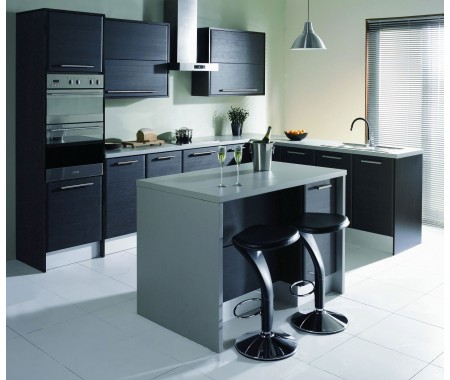 high-end design black kitchen cabinet in Australia