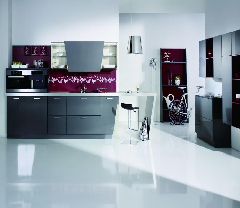 High End Kitchen Cabinet Hardware: JISHENG UV High Gloss Kitchen Cabinet-high-end Design
