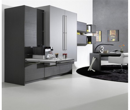 Ready made uv high gloss kitchen design(solid colours)