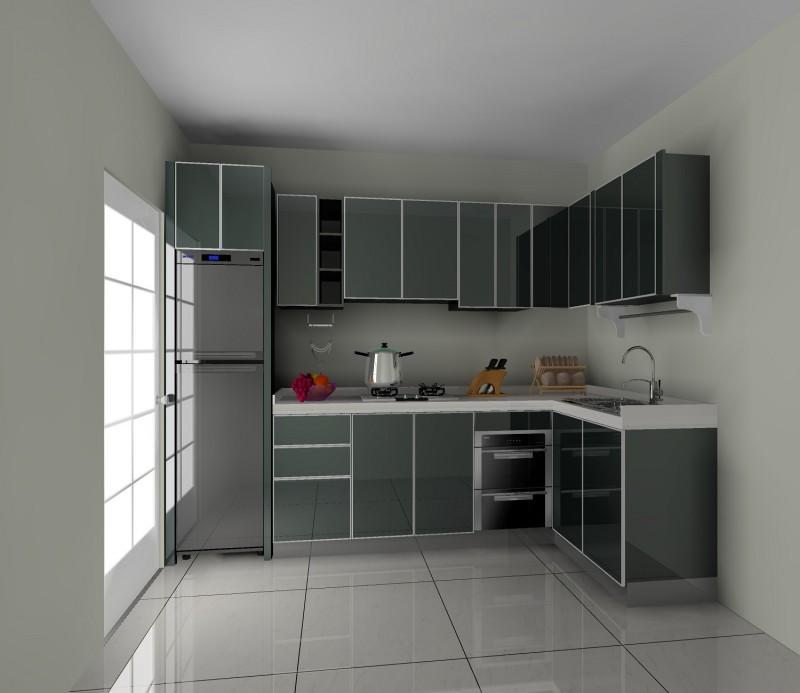 Gloss Black Kitchen Cabinets: JISHENG Remodeling Kitchens_black Gloss