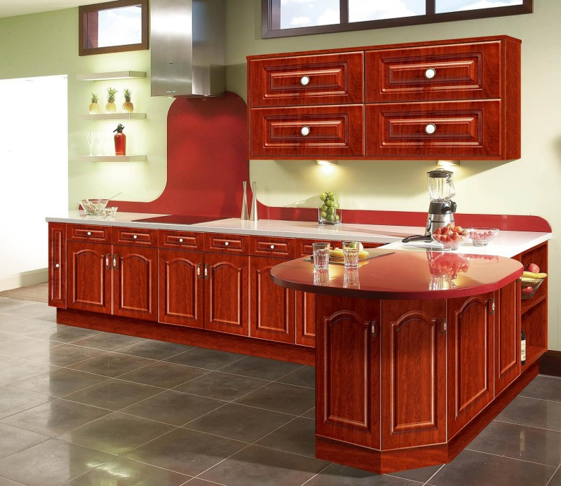 Pvc Cabinets For Kitchen Red Thermofoil Kitchen Cabinet Doors