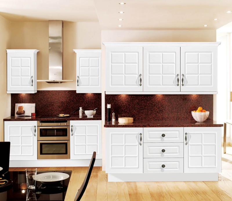 Top Rated Kitchen Cabinet Brands: Clasic PVC Thermofoil Kitchen Design -the Best