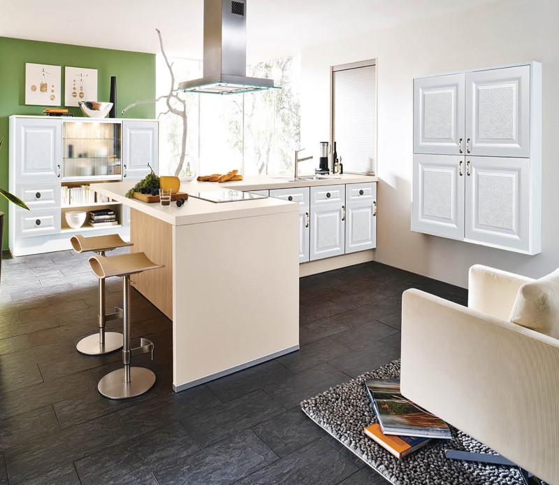 Pvc Thermofoil Kitchen Cabinets Factory Small Kitchen Design