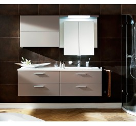 Modern wall mounted lywood water-resistant bathroom cabinet