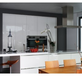 modern design gloss white prefab kitchen cabient
