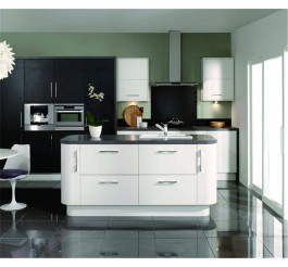 Black and whiet color high gloss kitchen cabinet & Black High Gloss Kitchen Cabinet - DB-Kitchen.com