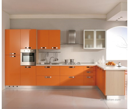 Glossy acrylic custom kitchen cabinet