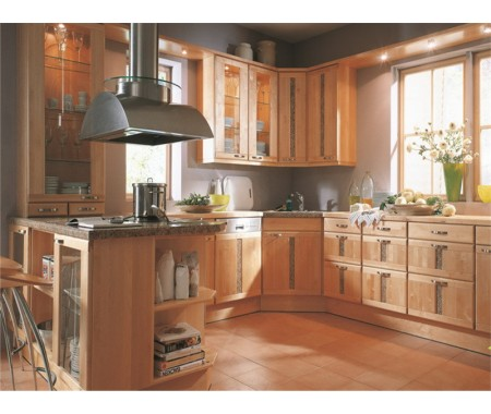 Custom kitchen solid wood cabinet design classic kitchen