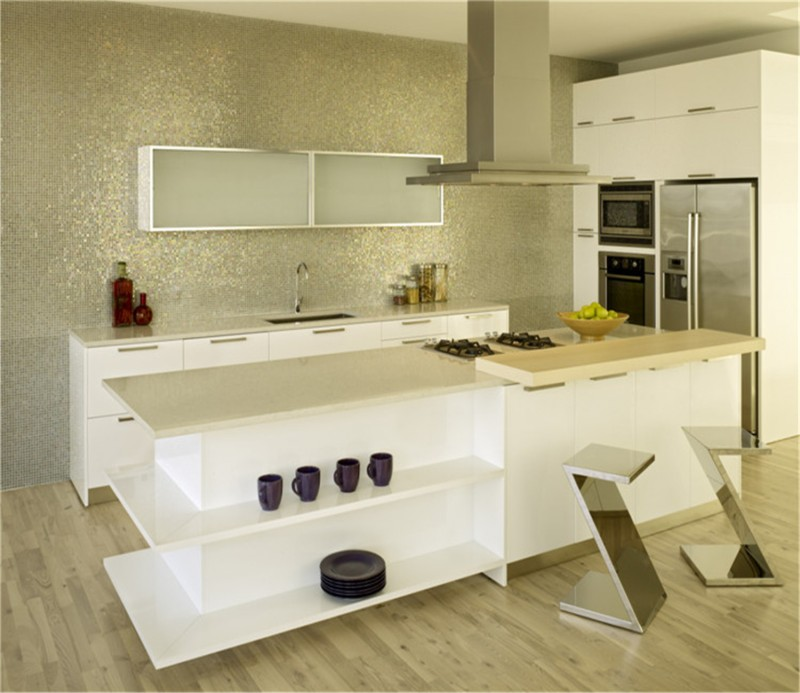 Uv High Gloss Color Combination Kitchen Cabinet