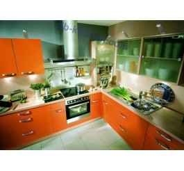 Merveilleux ... High Gloss UV Kitchen Cabinet Design With Orange Surface