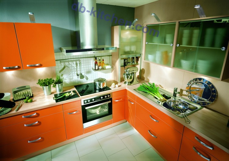 High Gloss Uv Kitchen Cabinet Design With A Smart Color And Mdf Board
