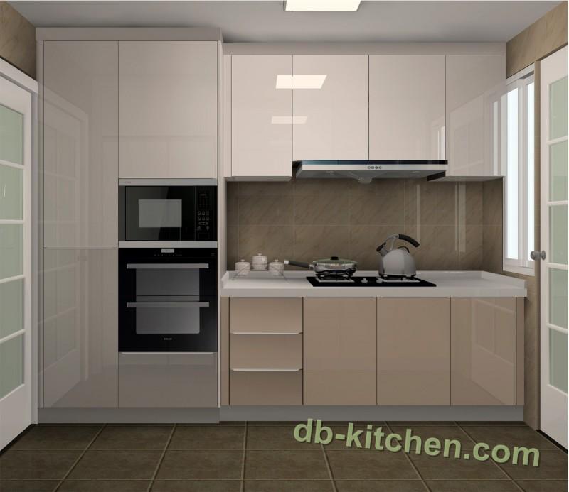 High Gloss UV Kitchen Cabinet Design Modern Style Mirror Surface Kitchen  Cabinet