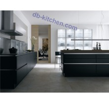 Modern custom black high gloss UV kitchen cabinet