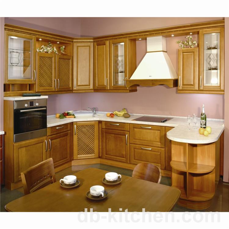 Classic MDF wood PVC kitchen cabinet