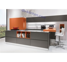 Custom PETG matte combination imported kitchen cabinet from China color artistic style