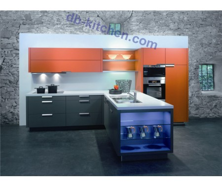 Modern matte PETG combination kitchen cabinet color