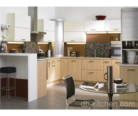 PVC wood grain surface mdf China kitchen cabinet manufacturer supply