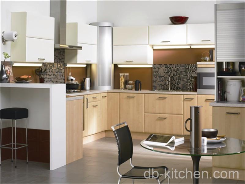 E1 mdf PVC surface finished China kitchen cabinet ...