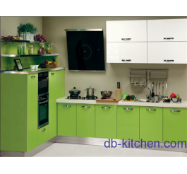 High gloss E0 plywood PETG color kitchen cabinet Australian style