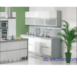 high gloss white lacquer custom kitchen cabinet
