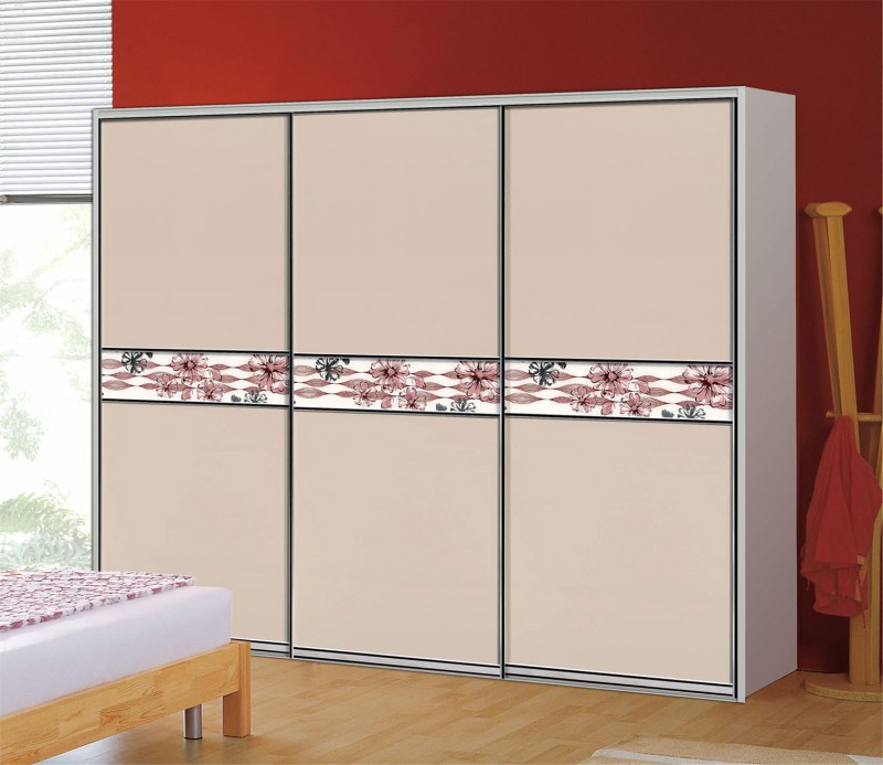 High Gloss Bedroom Wardrobe Color With Sliding Door Design