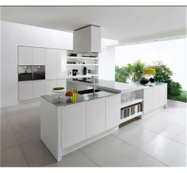 Australia standard white high gloss kitchen cabinet design