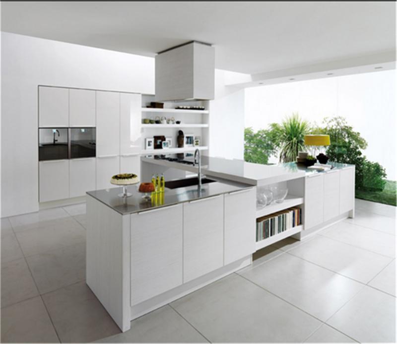 Australia standard white high gloss kitchen cabinet design