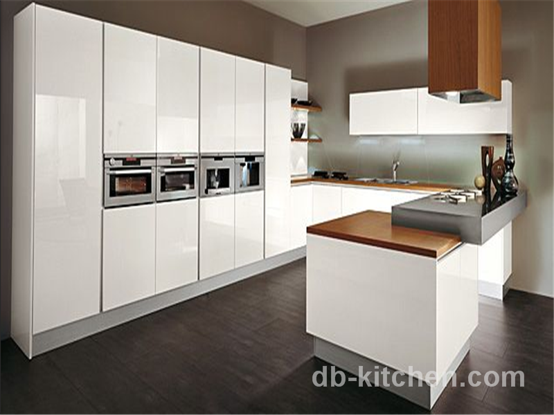High Gloss Lacquer White Customize Kitchen Cabinet Modern