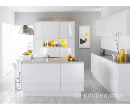 High Quality High Gloss Mdf White Acrylic Kitchen Cabinet