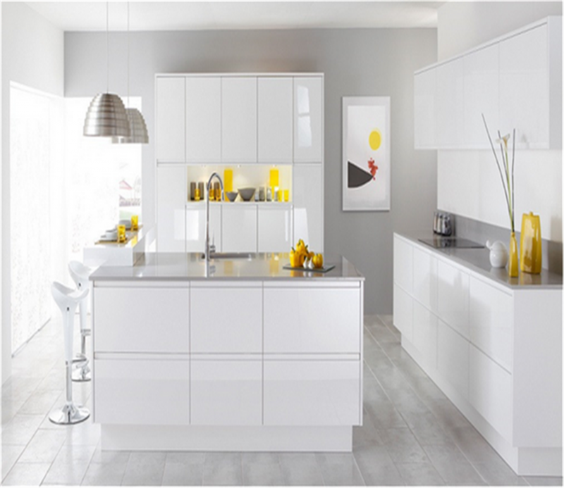 White Kitchen Cabinets Particle Board Doors