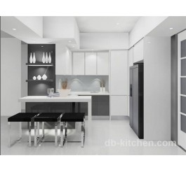 customize made high gloss white kitchen cabinet