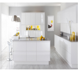 New high gloss kitchen cabinet with modern design
