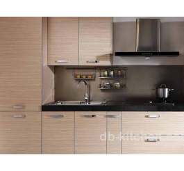 wood veneer mdf/plywood melamine kitchen cabinet